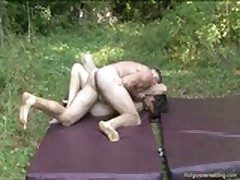 Amateurs Naked Wrestling