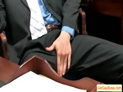 Blond Guy Sucking His Boss For Pay Raise By Gotgayboss