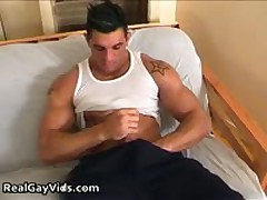 Chris N Masturbating His Awesome Firm Gay Penis 2 By RealGayVids