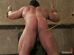 Bound Dude Gets Gis Ass Whipped By BoundPride