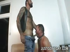 Nasty Tattooed Bear Fucks Friend In Heat
