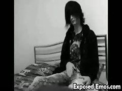 Cute Emo Boy Jerkoff
