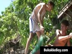 Beach Massage Boykakke Starring Gus And Yai 1 By BukakkeBoy
