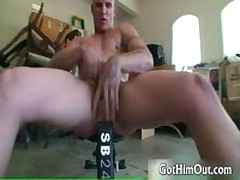 Secret Weight Lifting Fag Free Gay Porn 3 By GotHimOut
