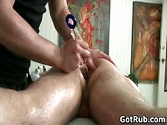Bro Getting His Asshole Oiled Up And Hammered Hard Three By GotRub