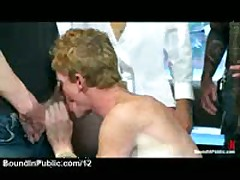 Red Rope Bondage Gay Sucks Dicks Ans Gets Cumshots
