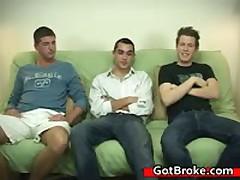 Blake, Damien & Jeremy Homosexual Gangbang 3 By GotBroke