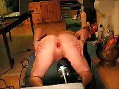 Giant Black Dildo In The Ass