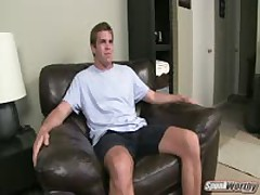 Hairy College Dude'S First JO Video