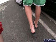 Redhead Sucking Some Cock On Car Parking 1 By Gotexbf