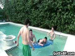 Gay Groupsex Hardcore By The Swimmingpool 4 By Gotexbf