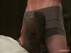 Tattooed Beast Blindfolded And Gets Rimming 2 By BoundPride