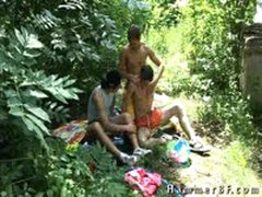 Outdoor Threesome Action By Hammerbf