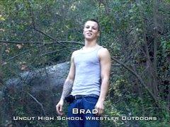 Young Wrestler Public Park Jerk