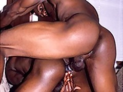 Hot Ebony Gays Anal Fucking After Cock Sucking