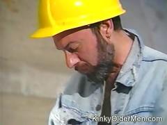 Horny Construction Worker Bears Sucking