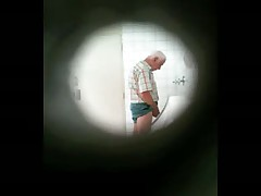 Caught Pissing In A Beach Bathroom