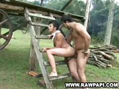 Latino Bareback Riding Gay Bottom